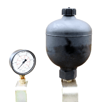 ACCUMULATOR AND PRESSURE GAUGE